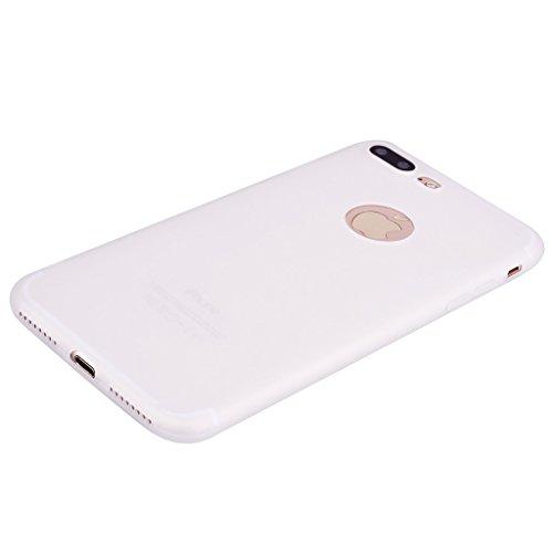 Per iPhone 7 Plus / iPhone 8 Plus Cover , YIGA Nero Silicone Morbido TPU Case Shell Caso Protezione Custodia per Apple iPhone 7 Plus / iPhone 8 Plus (5.5) white