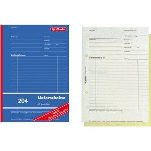 Herlitz 10 x Formularbuch Lieferschein A5 204 2x40 Blatt selbstdurchschreibend