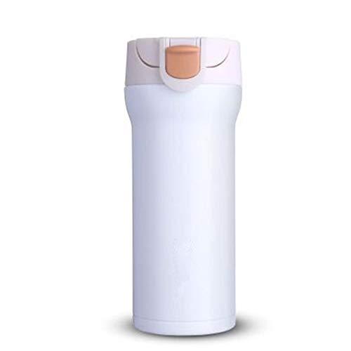 ZHEDAN Trinkbecher,Thermo Becher,Travel Mug - BPA-frei | 350 ml,hält Getränke 12h heiß/24h kalt,Doppelwandig vakuumisolierter Isolierbecher Travel Mug,für Heiße Getränke Überall,White