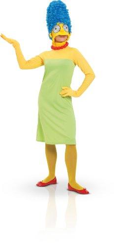 Rubie's 3 880654 L - Marge Simpson Erwachsene Deluxe Kostüm, Größe L, grün/gelb (Simpsons Kostüm Für Erwachsene)