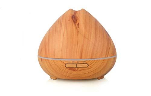 H&L 400ml essentielle Öl-Diffusor-Holz-Korn-Ultraschall-Aroma-Therapie kalt Nebel Befeuchter Büro Family Schlafzimmer Baby Room Learning Yoga Spa,Lightwoodgrain (Spa Aroma-nebel Essentials, Room)