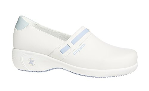 Oxypas Lucia, Women's Safety Shoes, Black (Blk), 7 UK (41 EU) Bianco (White (Lbl))