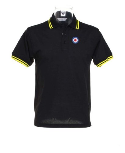 MOD logo Polo Shirt - Black with Yellow