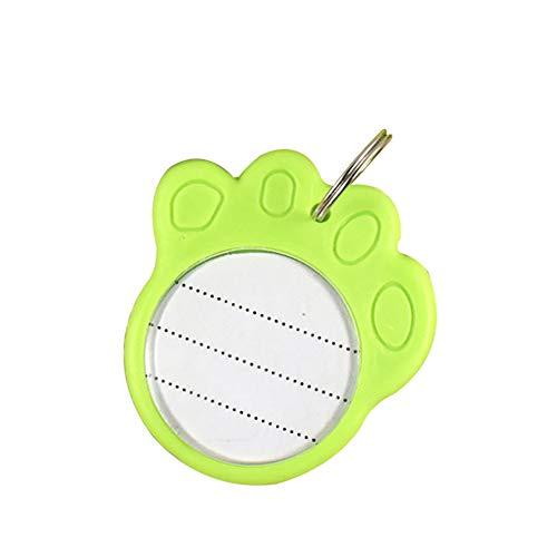 Hilai 1pc footpoint Forma Fluorescente Pet listado Etiqueta Mascota Perro Gato plástico Mascota Etiqueta de Identidad se Puede Usar con un Collar (Verde)