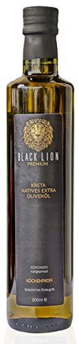 KRETA Premium Bio Olivenöl Kaltgepresst   griechisches EXTRA NATIVES Öl (Vergine)   zum Kochen / Braten - mild, fruchtig   GRIECHENLAND   Black Lion   100% Koroneiki - Oliven   GESCHENK   500ml