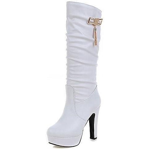 Donna tacchi Primavera / Western Stivali / Neve / Stivali Stivali da cavallo / Moda Stivali / Moto,Bianco,US5.5 / EU36 / UK3.5 / CN35