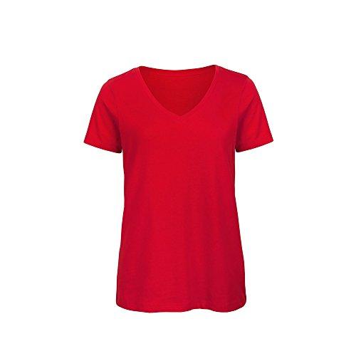 B&C Womens/Ladies Favourite Organic Cotton V-Neck T-Shirt