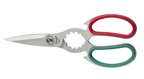 Sanelli premana professional forbice cucina, acciaio inossidabile, verde/rosso, 21.0x1.0x7.5 cm