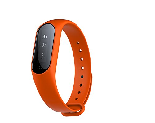 Monitor de actividad física Monitor de frecuencia cardíaca en tiempo real, Smart Pulsera Fitness Pulsera Podómetro con Step Tracker / Calorie Counter / Sleep Tracker Notificación de llamada Push para (naranja)