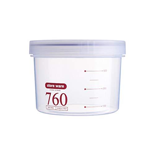 Yardwe Vorratsdosen mit Schraubverschluss 760ml Food Storage Container Luftdichte Frischhaltedosen für Getreidemehl Zucker Reis Snacks (Zufällige Farbe) (Food Container Mit Schraubdeckel)