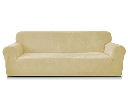 chun-yi-coral-fleece-sofa-covers-1-piece-polyester-spandex-fabric-stretch-slipcovers-loveseat-golden