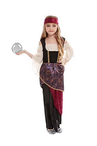 Horror-Shop Wahrsagerin Deluxe Kinderkostüm für Karneval und Halloween L (Esmeralda Kostüm Kinder)