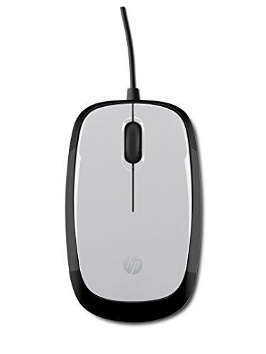 HP X1200 (2HY55AA) Maus mit Kabel (USB, 1.200 cpi, 3 Tasten, Scrollrad) silber / schwarz (Hp Wired Computer-maus)