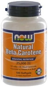 Now Foods Natural Beta Carotene - 180 softgels with Antioxidants