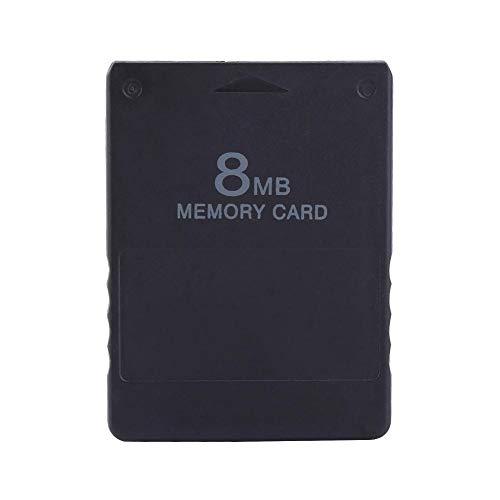 Hakeeta Speicherkarte/Memorykarte für PS2, 8M-256M Spielspeicherkarte Hohe Kapazität Memorykarte für Sony Playstation 2 PS2, Spiele-Zubehör zum Speichern von Spielen und Informationen(8M)