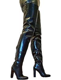 a6c002fe483f generisch Exklusiv Sexy Damen Schuhe Overknee Stiletto Stiefel Männer Boots  C6