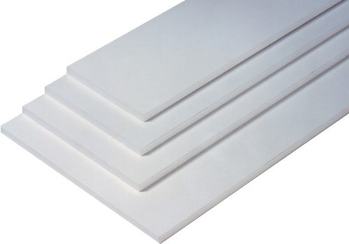 2 er Set - 2 Stück Regalboden Einlegeboden WEISS 567 x 283 mm (L 56,7 cm x B 28,3 cm) Fachboden für 60 cm Küchenschrank Spanplattenzuschnitt mit Kanten - ABS Kanten und Melaminkanten - livindo