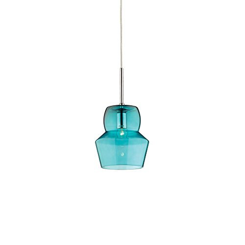 L'Aquila Design Arredamenti Ideal Lux Lampe Zeno Bleu Suspension Structure Métal Salle SP1 Small