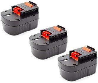 Vhbw 3x NiMH batteria 1500mAh (12V) per strumenti attrezzi utensili utensili utensili da lavoro come nero & Decker A12-XJ, A12EX, A1712, FIRESTORM FS120B, FS120B | Varietà Grande  | Moda Attraente  | Nuove varietà sono introdotte  e37b9f
