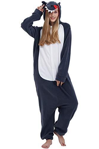 Pyjama Tier Cosplay Kigurumi Animal Grauer Wolf Cartoonstil Plüsch für Unisex Damen Herren