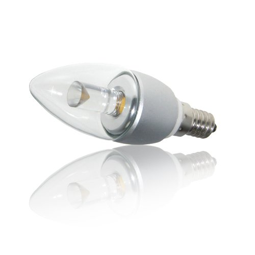 Affiniti LED Bombilla LED E14 vela 4W Blanco Cálido Atenuable ALT-C01E14-4WWD