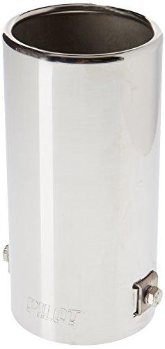 Preisvergleich Produktbild Akhan ER054 - Edelstahl Auspuffendrohr Auspuffblende universal 160x76mm d=35-62mm