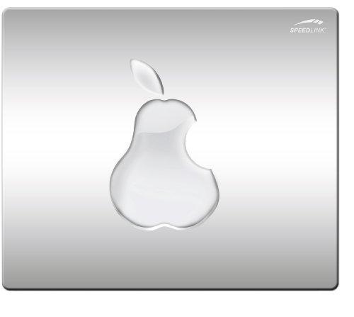 Apple Pad (Speedlink Mauspad mit seidenweicher Textiloberfläche - SILK Mouse Pad Pear (antistatische Wirkung - perfekte Gleiteigenschaft - Abmaße: 230 x 190 x 0,15 mm (B x H x T)) PC / Computer Mousepad)