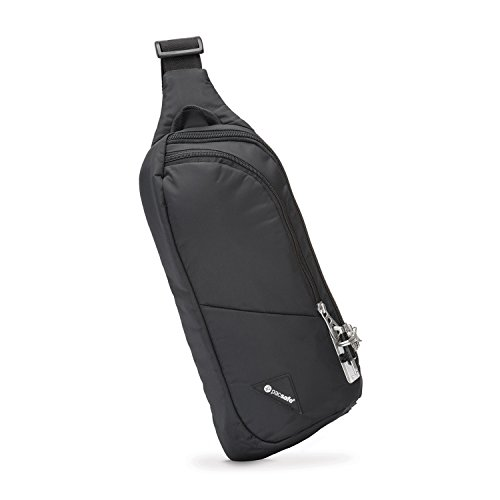 Pacsafe Vibe 150 - Anti-Diebstahl Cross-Body Pack, Diebstahlschutz Umhängetasche - Schwarz/Black