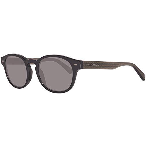 Ermenegildo zegna sonnenbrille ez0029 occhiali da sole, nero (schwarz), 51.0 uomo