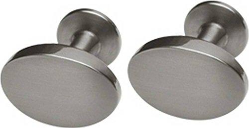Grau Ovale Matte (Grau Matte Oval Manschettenknöpfe von Ti2 Titanium)