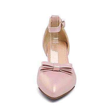 Les talons des femmes Printemps Été Automne Hiver Chaussures Club Bureau PU & Carrière Partie & Tenue de soirée Bowknot Talon Sliver Rose Beige Silver