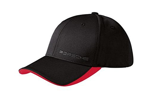 Porsche Cap, schwarz/rot