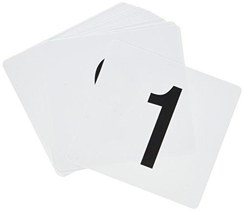 23114Double Seite Kunststoff Tisch Zahlen 1bis 25, 4von 4-Zoll, schwarz auf weiß (Anzahl Karte Halter Für Hochzeiten)