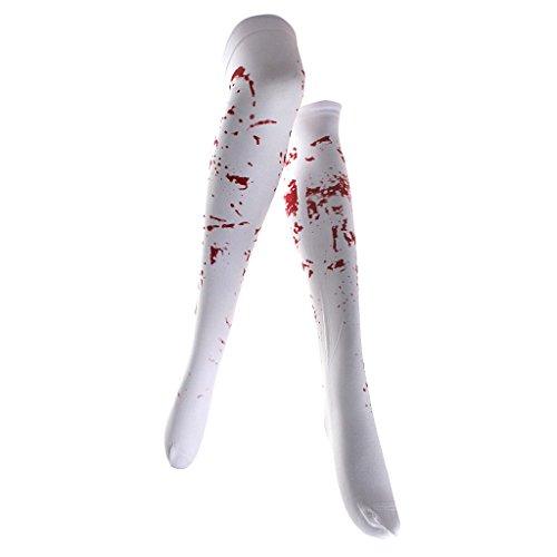 Sharplace Halloween Kostüm blutige halterlose (Whitch Kostüme)