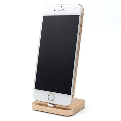 iprotect Slim Docking Ladestation metallic mit Lightning Anschluss in gold  für Apple iPhone iPhone 5 5s 5c SE, iPhone 6 6 Plus 6s 6s Plus, iPhone 7 7  ...