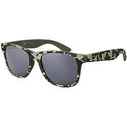 Original La Optica Gafas de Sole Espeyadas UV400 Unisex Wayfarer - Forma Individual - Camuflaje I Goma (Lentes: Gris)