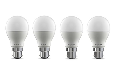 Wipro Garnet Base B22 9-Watt LED Bulb (Pack of 4, Cool Day Light)