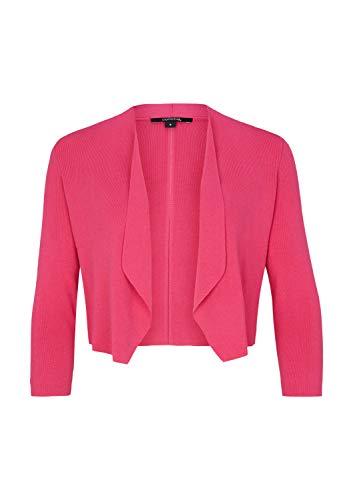 comma Damen Strickbolero mit 3/4-Ärmeln pink L
