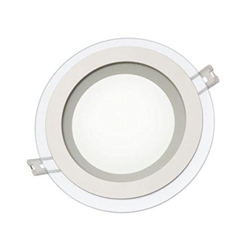 Panneau LED en verre 12 W plafond encastrable plafonnier spot rond encastrable