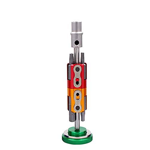 FiedFikt Schraubendreher, Multi-Werkzeug, Stahl-Fahrradwerkzeug, Fahrrad-Reparatur-Werkzeug-Set, multifunktional, tragbares Set, Sechskant-Schraubendreher, T25 Schraubenschlüssel grün Zip-front Roll