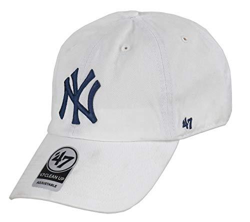 47Brand Clean Up Strapback NY Yankees RGW17GWSNL-WHA Weiß Blau, Size:ONE Size