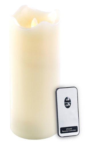 Britesta Echtwachskerze mit bewegliche LED-Flamme & Fernbedienung, XL