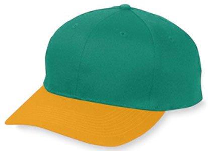 6-Panel Cotton Twill Low Profile Cap DARK GREEN/ GOLD OS Pro Style Cotton Twill Cap