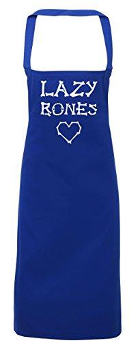 hippowarehouse Lazy Bones Cute Love Herz Schürze Küche Kochen Malerei DIY Einheitsgröße Erwachsene, königsblau, (Kostüm Malerei Skelett)
