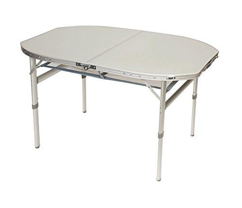 Preisvergleich Produktbild Bo-Camp Aluminium Klapptisch 120x80 Campingtisch Falttisch Koffertisch(B-Ware) Hitzebeständig -Wasserfest