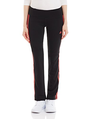 French Terry Classic Fit Pant (adidas Damen Hose BASIC 3S Pants, Schwarz/Rot, S, 4055344081402)