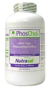 Nutrasal PhosChol 900mg 300 gels by Nutrasal (PhosChol) (English Manual)