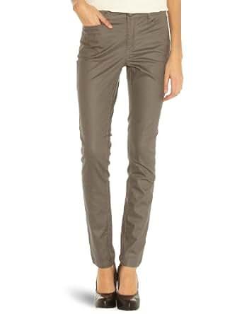 VERO MODA Damen Jeans 10083837 WONDER COLOR NW COATED Skinny / Slim Fit (Röhre) Normaler Bund
