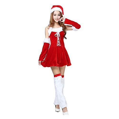 HUAN Nuovi Vestiti Natalizi Costumi di Natale di Natale Costumi di Palla  Natalizia Abiti Divertenti Abiti da Fotografia (Colore   Rosso c16153c6654