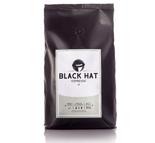 BLACK HAT ESPRESSO - mehr als Premium-Espressobohnen - 1 KG ganze Bohnen für Vollautomaten & Siebträger